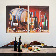 2PCS Wine Barrel Unframed Modern Canvas Wall Painting Home Decor