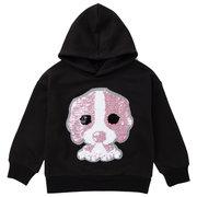 Bonito Animal Padrão Meninas Manga Longa Hoodies Camisa Camisola Para 2Y-11Y