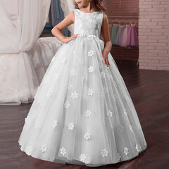 Pizzo Flower Girl Dresses Wedding Compleanno Maxi Dress per 8-15 anni