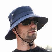 Мужчины Лето Козырек Ведро Шапка Рыбак Шапка На открытом воздухе Восхождение дышащий солнцезащитный крем