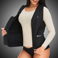 Zip Front Heating Rechargeable USB Intelligent Temperature Control Waistcoat For Adults