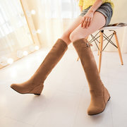 Big Size Heel Increasing Buckle Slip On Over The Knee Chic Boots