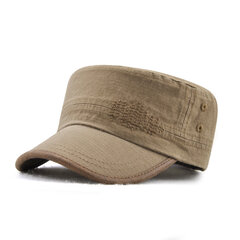 Mens Cotton Vintage Beret Caps Newsboy Buckle Adjustable Casual Outdoors Peaked Hat