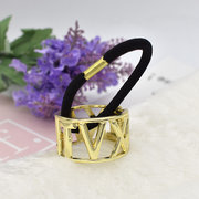 1PC Fashion Rome Number Women Metel Hair Ring Rope Elastic Hair Tie Ponytail Holder Hair Accessories