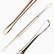 Stainless Steel Cuticle Pusher Double Head Finger Dead Skin Push Remove Dust Manicure Tools