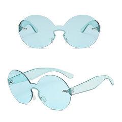 Women Summer Round Frame Sunglasses Outdoor Casual Ocean Lens Glasses