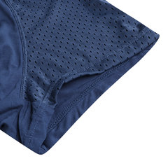 Mens 4 Pieces Boxed Underwear Knitting Modal High Elasticity Mesh Breathable U Convex Pouch Boxer