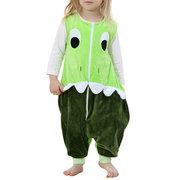 Флисовая пижама для девочек, мальчиков, молний Комбинезон для 1Y-6Y