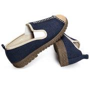 Льняные плоские туфли большой размер