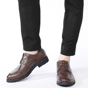Men British Style Microfiber Leather Business Casual Oxfords