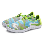 Color Match Lightweight Slip On Mesh Casual Shoes