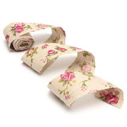 Soft Frayed Edge Burlap Hessian Ribbon Vintage Chic Pink Rose Natural Jute 300x5cm