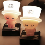 DecBest Cute Hat Night Light Cartoon Baby Nursery Lamp Breathing LED Lamps Bedroom Home Decor