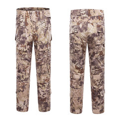 Mens Outdoor Military Tactical pants Camo Printing Breathable Wear-resistant Casual Pants