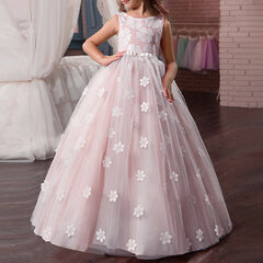 Vestidos de niña de encaje Boda Vestido largo de cumpleaños para 8-15 años