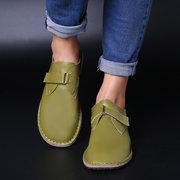 Zapatos planos de gran tamaño Mujer hebilla redonda retro Soft