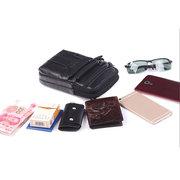 Multifonctionnel 6 Pouces En Cuir Véritable Sac de Téléphone Sac à Bandoulière Pour Hommes