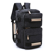 Canvas Backpack Large Capacity Multi-functional Leisure Travel Clutch Bag Crossbody Bag For Men