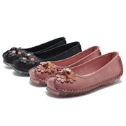 Flower Retro Handmade Comfy Casual Flat Loafers