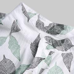 O algodão impresso floral do feriado havaiano dos homens gira para baixo camisas longas da luva curto do colar