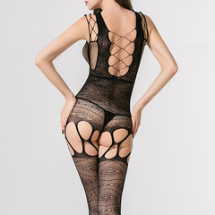 Calza di pizzo all'uncinetto Crotchless Nightwear Body Suit Stocking
