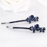 Fashion Blue Crystal Schmetterling Haarspange Haarnadel Haarschmuck für Sie