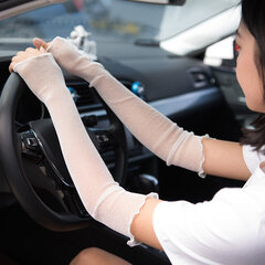 Womens Sunshade Diving Anti-UV Sun Protection Sport Gloves Golf Sleeves to Cover Arms Gloves