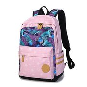 Women Canvas Stars Tiger Pattern Backpack