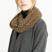 Женское Теплый вязаный воротник, кольцо, сплошной цвет, шарф На открытом воздухе Модные шарфы, воротник, круг, вязаный шарф