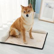 Cómodo algodón y lino para mascotas Estera de seda de hielo Gato Estera Perro Gato Nido Sofá cama Four Seasons Universal