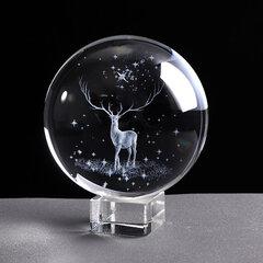 Boule de cristal 3d gravé au laser globe de verre cristal artisanat accessoires de décoration pour la maison ornement