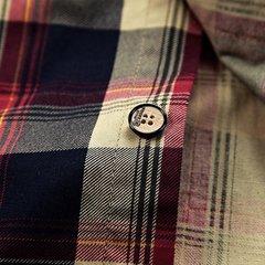 Camicia di vestito dal plaid del manicotto a maniche lunghe del collare rotondo del cotone allentato casuale alla moda per gli uomini