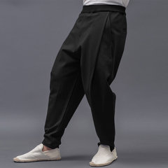 Men's Casual Wrinkle Elastic Waist Loose Harem Pants