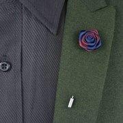 Broche de traje de boda de flores de tela