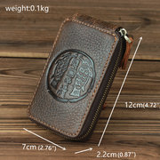 Sacoche en cuir véritable pour Totem Retro Business Key Case