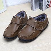 Большой Размер Кожаные Мягкие Теплые Плоские Ботинки