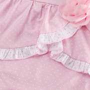 Rosa Sweet Flower Decor Cotton Baby Girls Mono Para 6-24M