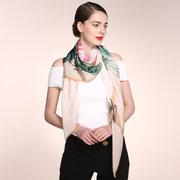 Lenços de tinta de seda clássica de mulheres Casual pára-sol Multi-função xaile cachecol