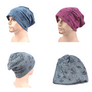 Men Comfortable Soft Cotton Knitted Beanies Hat Outdoor Leisure Breathable Hedging Cap
