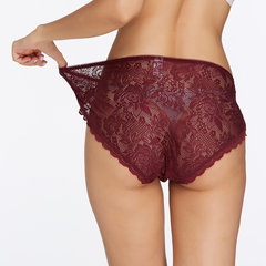 3 Pieces Plus Size High Waist Allover Lace See Through Panties