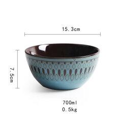 6 و 11 بوصة صحن السيراميك كأس صحن مجموعة أدوات المائدة طبق ريترو المنزلية صحن سلطة السلطانية السلطانية القدح