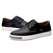 Men's Metal Decoration Flat Lace Up Trainers Casual Oxfords