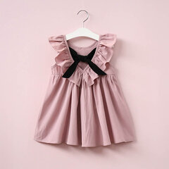 Bowknot Ruffles Toddler Girl Backless Dress per 2-9Y