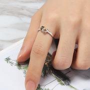 Os anéis das mulheres doces do coração da prata do ouro classificam o anel nupcial da aliança de casamento para mulheres