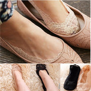 Invisible Antiskid Lace Boat Socks Shallow Liner No Show Peep Low Cut Hosiery