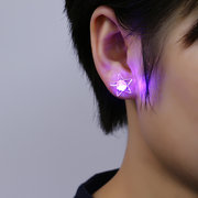 1 Pair Statement Glowing LED Earrings Luminous Light Up Star Piercing Stud Earrings for Women
