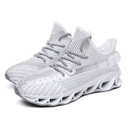 19 Seasons New Men's Front Shoes Trend Breathable Flying Woven Mesh Shoes Increased Sports Casual Men's Shoes