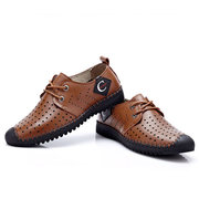 Hommes Anti-collision Toe Hollow Out Stitcing Respirant Outdoor Casual Shoes