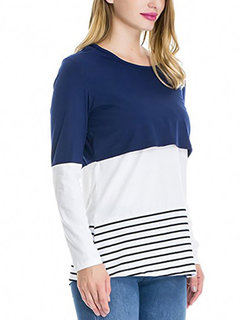 Long Sleeve Tops T-Shirt with Maternity Nursing Function For Pregnancy Women