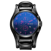 Mode Männer Quarz Armbanduhr Wasserdichte Uhren Kreative Lederband Sportuhr